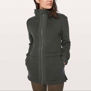 Lululemon light as warmth black size 6 jacket